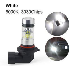 1pc 9005 HB3 9006 HB4 H10 9145 H11 H8 100W 6000K Super White Fog Light 2323 LED Driving Bulb DRL Daytime Running Light