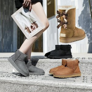 2020 Australia Classic UGG Winter Warm Boots invierno Moda Martin Classic Boot Boots Boots Boots Rodillo Bow Girl Mini Bailey Boot Tamaño 35-41