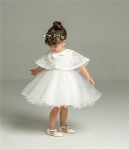 Newborn White Christmas Dress For Baptism Baby Girl Lace Christening Gown Dress Toddler 1st Birthday Party Infant Costumes F1203