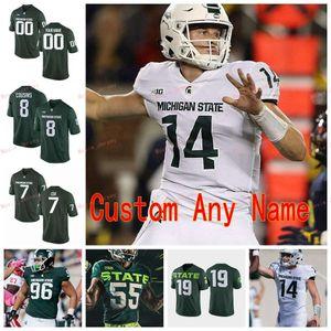 Stitched Custom 11 Connor Heyward 12 Rocky Lombardi 13 Laress Nelson 14 Brian Lewerke Michigan State Spartans College Men Women Youth Jersey