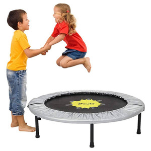 Doufit Home Fitness Trampoline Exercise Equipment Bounding Table Indoor Rebounder Jump Fitness Workout Trainer for Adults Kids B1207
