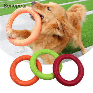 Benepaw Strong Dog Interactive Sofe Flexible Puppy Floating Flying Discs Outdoor Game Durable Non-toxic Pet Chew Toys Y1125