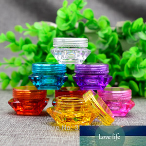 2G 3G 5G 100pcs lot Diamond Shape Plastic Facil Cream Jar, DIY Elegant Colored Cosmetic Cream Container, Lip Balm Storage Box