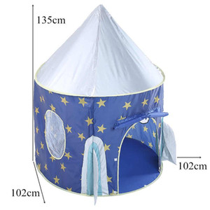 Portable Children's Tent Wigwam Folding Kids Tents Baby Play House Large Boys Girls Blue Castle Child Room Decor
