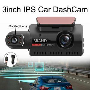 A68 자동차 DVR 분리 야간 운전 레코더 모션 감지 자동차 카메라 3 인치 HD Dashcam을 IPS