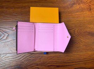 محفظة المرأة محفظة سستة حقيبة الإناث مصمم محفظة محفظة الأزياء بطاقة حامل جيب قصيرة المرأة حقيبة مع مربع