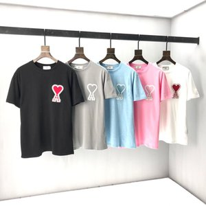 2020 Abiti AMI Homme T Shirt Mens Men Designer Designer Felpe con cappuccio High Street Stampa T Shirt Dimensione S-M-L-SL-XXL F1