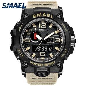 Men militaire montre 50 m de montre-bracelet imperméable à l'arrière-montre LED quartz horloge montre homme de sport mâle Relogio 1545 Sport Montre Sport Hommes Sock LJ201212