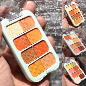 8 Colors Long Lasting Pumpkin Non Smudge Eyeshadow Palette Shiny Glitter Eye Shadow Powder Pigment Eye Makeup Cosmetic