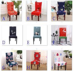 Elastico Christmas Chair Cover SlipCovers Sala da pranzo Decorazioni per matrimoni Banchetto Breve Sedia Coprisedili Casa Tessile Sedia Cover HH9-3611