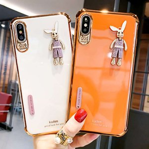 phone Suitable mobile for 6D 12pro electroplating xsmax new rabbit 11 protective case xr87 silica gel