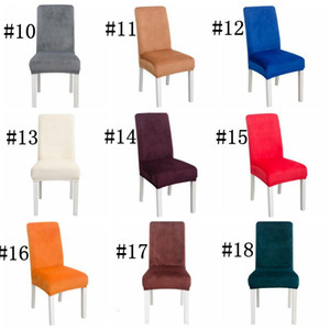 Covers Stretch Solid Soft Chair Cover Elastic Washable Chair Seat Slipcovers Home Banquet Wedding Decor Stool Cover Sea Shipping DDC2652