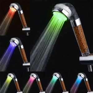 7 Colore Modifica a LED Anion Spa Doccia Doccia Testa Temperatura Controllo bagno ad alta pressione Acqua Saving Head Doccia a mano