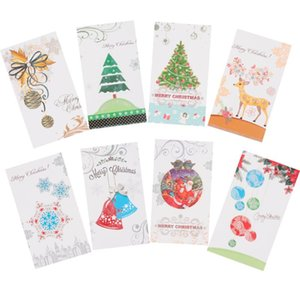8 pcs Greeting Cards Merry Christmas Message Cards Blessing Card for Family