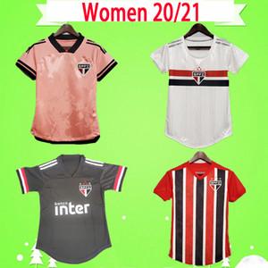 FEMMES 2021 2020 maillot de football de Sao Paulo FC PATO Alves à la maison 20 21 HERNANES PABLO maillot de football pour femmes filles camisa de futebol