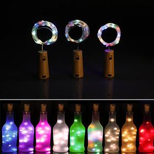 Wine Bottle Cork Lights String 2M 20 LED Lights Battery Power for Party Wedding New Year Bar Decor Bottle Lights GH1153-1