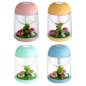 LED Micro Landscape Humidifier Mini Air Humidifier USB Ultrasonic Diffuser Mist Maker Colorful Changing LED Night