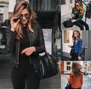 2020 новый стиль, новая осень и зимняя мода кожаный костюм маленький пальто женской одежды