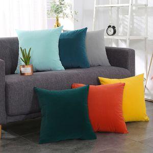 Amais Super Soft Velvet Cushion Cover Candy Color Decorative Throw Pillow Case Luxury Sofa Seat Pillow Cover 30x50 40x40 45x45 5