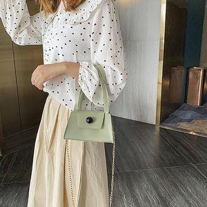 Fashion Summer White Handbag Elegant Lady's Metal Tote Bag High Quality PU Leather Designer Luxury Shoulder Bags