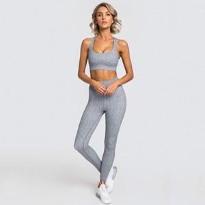 Zcxqm Женщины Йога набор 2 шт. Набор бесшовные спортивные фитнес высокие талии брюки легинги Одежда для женщин Active Wheat1