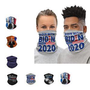 Joe Biden 2020 Presidential Election Face Mask Half Sun Dust Protection Fashion Scarf 3D Tube Mask Seamless Durable Face Bandana