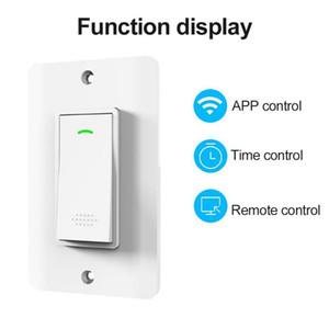 US Стандартный WiFi Smart Light Switch Стеклянный экран Touch Amazon приложение приложение для дистанционного управления приложением 10A Sharing Control Smart Switch