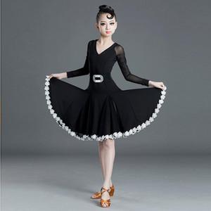 New Latin Dance Dress For Girls Children Salsa Tango Ballroom Dancing Dress Competition Costumes Kids Practice Dance Clothing