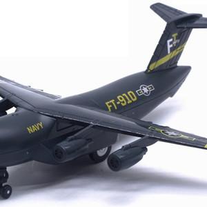Aeromobile in lega Diecast C-17 Trasporto Airplane Modello Giocattolo Torna indietro con display Stand Light Music Simulazione Modello militare Regalo Y1130