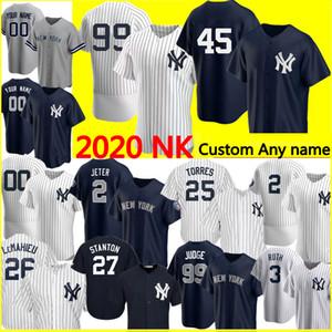 NuovoYork.Yankees 99 Aaron Judge 2 Derek Jeter 45 Gerrit Cole Jersey Gleyber Torres Don Mattingly Babe Ruth Mariano Rivera