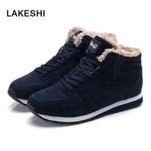 Lakeshi 35-46 Boyutu Kadın Kadınlar Kış Sıcak Ayakkabı Moda Kadın Çizmeler Kar 2018 Çizmeler Siyah Kış Ayak Bileği Plus YENI OTBHH