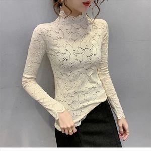 Hollow Out O Neck Women T shirt Tops Autumn Fall Long Sleeve Casual Solid Lady T Shirt Drop Shipping