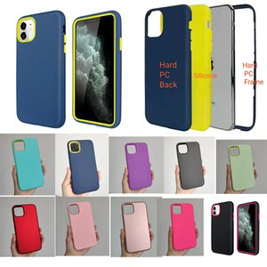 PC Case Hybrid Shockproof Armor Cover For iphone12 Mini pro MAX 11 X XR 7 8 3in1 For LG MOTO SamsungS20ultra Note20 A01 50 21S 31 M30 J8 7 6