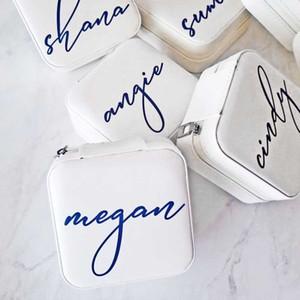 Boîte à bijoux personnalisée Custom Petite Travel Box Mariée Mère Mère Femme Cadeau Bridalshower Boîte Boîte Boîte Mariage Proposition de mariage