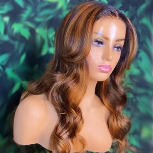 Loose Wave Wig 2x6 Lace Closure Wig 150% Ombre 1B 27 Highlight Lace Closure Human Hair Wigs For Black Women Pre Plucked