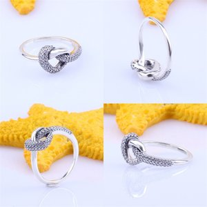 New arrival Knotted Heart Ring Original Box for Pandora 925 Sterling Silver CZ Diamond Women Wedding Gift Jewelry Rings Sets 61 M2