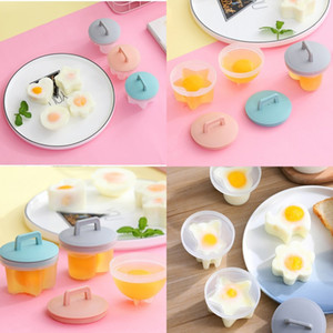 Boiled Eggs Mould Household Accessories Home Kitchen Non Stick Cup Egg Steamer With Lid And Brush 4 Pcs Set 8 8wd J2