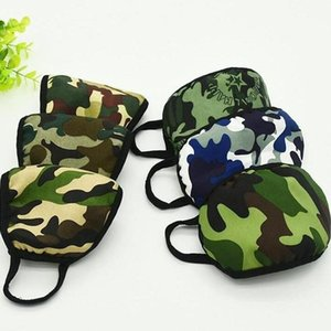 Camouflage Masks Designer Respirator Washable Breathable Elastic Camo Print 2 Layer Earloop Mouth Cover Unisex Outdoor Anti-dust DHB2152