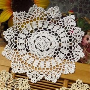 Кружева настольный цилиндр круглый хлопок ручной работы плетение вязание крючком цветок, получение ретро плацмат кухня украсить подушку 4 12HL M2