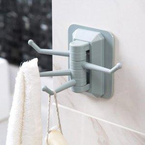Сильная палка клейкий вращающийся держатель 4 в 1 нагрузки подшипника 2 кг бесшовные клейкий крючок настенные крючки вешалка ванная комната настенный полотенцем крюк GWE4672