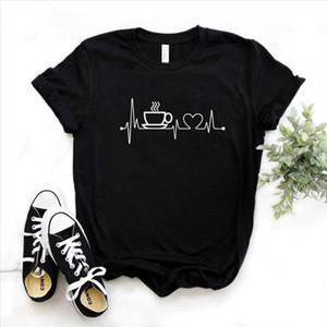 Café Heartback Lifeline Impressão Mulheres Tshirt Algodão Casual Funny Camiseta Para Lady Girl Top Tee Hipster Drop Ship 6 Cores S