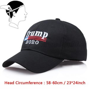 Donald Trump Letter Embroidery Hat Snapback Hat Support Trump 2020 Baseball Cap Outdoor Visor Cap Cotton Ball Hats For Women Man VT1748