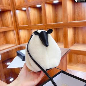 2021 Carino Borse a tracolla di pecora Mini Borsa a tracolla Inverno Small Borse Borse Bambina Regali Top Quality Girl Tote Bag