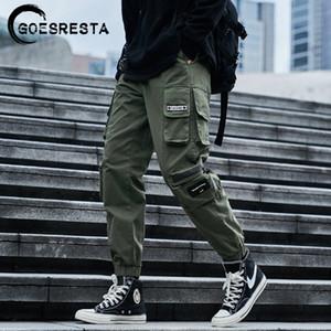 Goesresta Hip Hop Streetwear Pantalones de carga Hombres Joggers Sweetpants Casual Harem Pantalones Harajuku Otoño Hombres Pantalones Marca Ropa Z1126