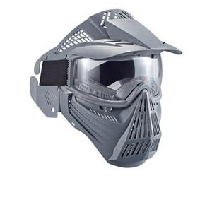 Masques de protection du visage complet pour paintball tactique CS jeu Sangle réglable à la poussière à la poussière