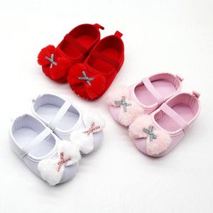 NEW Spring Infant Newborn Baby Shoes Girls Prewalker Bow Applique Single Shoe Princess Shoes Single First Walkers