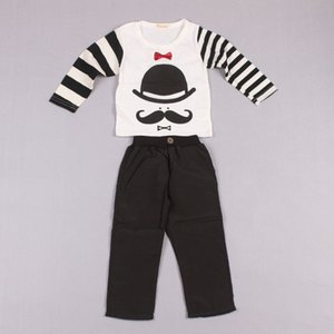 Clearance sale Child Clothes Boys Clothing Sets Spring Autumn Long Sleeve T Shirt Kids Suspender Thouser Boys Suits Kids Outfits Z202