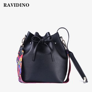 fashion Women PU Leather Shoulder Bags Brand Designer Ladies Crossbody messenger Women bag with Colorful Strap Bucket Bag 201204