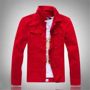 Autumn new style male slim long-sleeved Korean denim jacket trendy denim jacket white washed denim clothes Jeans Coat