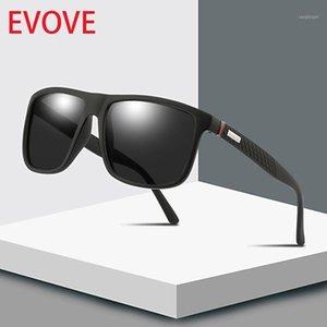 Evove Polarize Güneş Gözlüğü Erkekler Polaroid Güneş Gözlükleri Erkek Marka Tasarımcısı Serin Düz Üst Sürüş Kırmızı Mavi Mirrored1